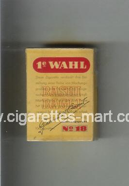 1 e Wahl (Bashi Bagli / No 18) ( hard box cigarettes )