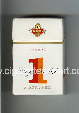 1 (german version) Reynolds No 1 (design 1) (Nikotinfrei / International) ( hard box cigarettes )