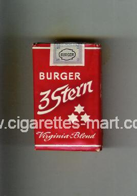 3 Stern (Burger / Virginia Blend) ( soft box cigarettes )
