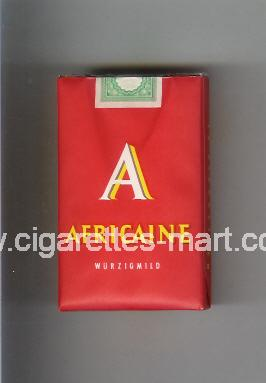 Africaine (german version) A (Wurzigmild) ( soft box cigarettes )