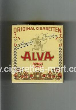 Alva (design 1) (Original Cigaretten / Runde Sorte) ( hard box cigarettes )