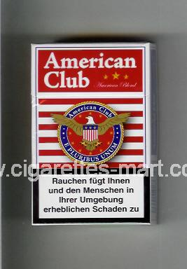 American Club (german version) (design 2) (American Blend) ( hard box cigarettes )