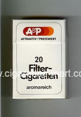 A&P (design 1) Filter - Cigaretten (Attractiv & Preiswert / Aromareich) ( hard box cigarettes )