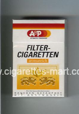 A&P (design 2) Filter - Cigaretten (Attractiv & Preiswert / Aromareich) ( hard box cigarettes )