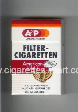 A&P (design 3) Filter - Cigaretten (Attractiv & Preiswert / American Blend) ( hard box cigarettes )