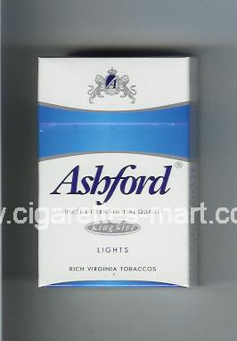Ashford (design 1) (Lights) ( hard box cigarettes )