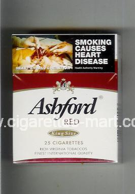 Ashford (design 1A) (Red) ( hard box cigarettes )