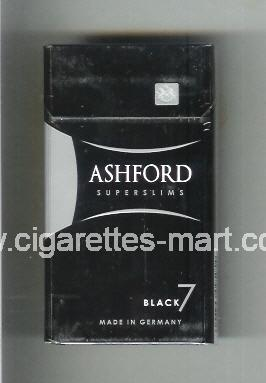Ashford (design 2) (Black 7 / Superslims) ( hard box cigarettes )