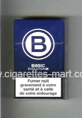 Basic (german version) (design 4) B (Evolution) (blue) ( hard box cigarettes )