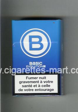 Basic (german version) (design 4) B (Evolution) (light blue) ( hard box cigarettes )