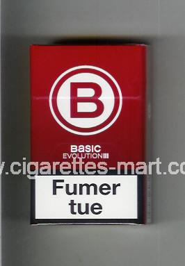 Basic (german version) (design 4) B (Evolution) (red) ( hard box cigarettes )