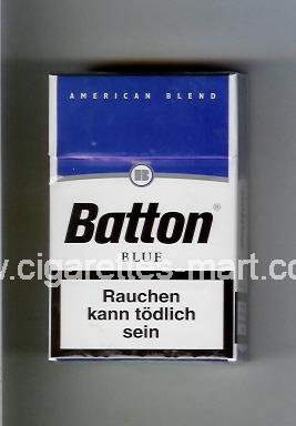 Batton (design 1) (American Blend / Blue) ( hard box cigarettes )