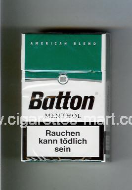 Batton (design 1) (American Blend / Menthol) ( hard box cigarettes )