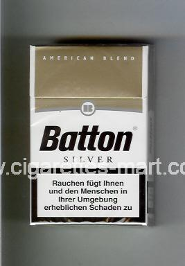 Batton (design 1) (American Blend / Silver) ( hard box cigarettes )