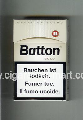 Batton (design 3) (Gold / American Blend) ( hard box cigarettes )