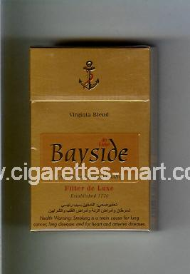 Bayside (design 2) (Filter De Luxe / Virginia Blend) ( hard box cigarettes )