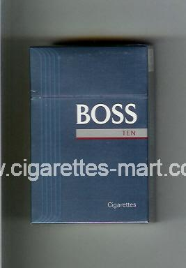 Boss (german version) (design 3) (Ten) ( hard box cigarettes )