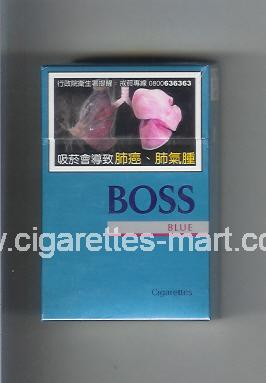 Boss (german version) (design 3A) (Blue) ( hard box cigarettes )