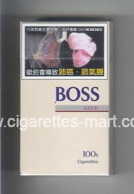 Boss (german version) (design 3A) (Gold) ( hard box cigarettes )