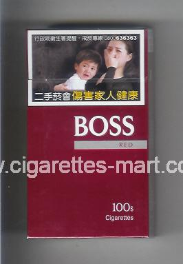 Boss (german version) (design 3A) (Red) ( hard box cigarettes )
