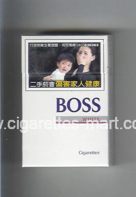 Boss (german version) (design 3A) (White) ( hard box cigarettes )