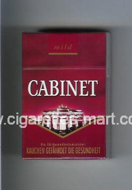 Cabinet (german version) (collection design 1A) (Mild / … Berlin) ( hard box cigarettes )