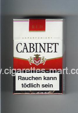 Cabinet (german version) (design 3) (Red) ( hard box cigarettes )