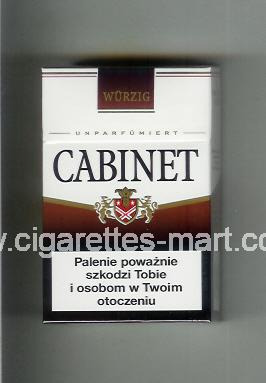 Cabinet (german version) (design 3) (Wurzig / Unparfumiert) ( hard box cigarettes )