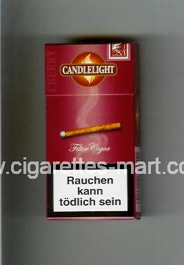 Candlelight (design 1) (Cherry / Filter Cigars) ( hard box cigarettes )