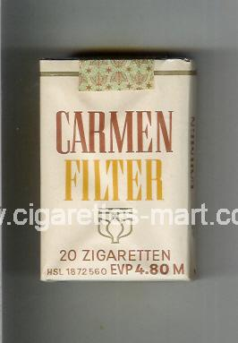Carmen (german version) (design 2) Filter ( soft box cigarettes )