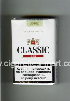 Classic (german version) (design 2) (Red / 12) ( soft box cigarettes )