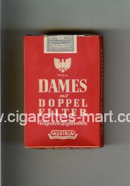 Dames (german version) Doppel Filter (Regie / Virginia Cigaretten) ( hard box cigarettes )