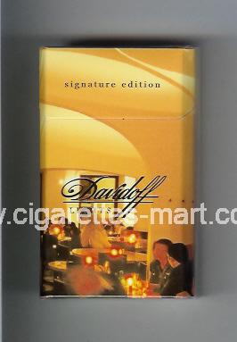 Davidoff (collection design 2D) (Lights / Signature Edition) ( hard box cigarettes )