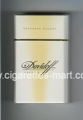 Davidoff (design 1) (Lights / Superior Lights) ( hard box cigarettes )