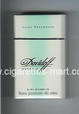 Davidoff (design 1) (Menthol / Light Freshness) ( hard box cigarettes )