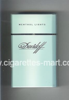 Davidoff (design 1) (Menthol Lights) ( hard box cigarettes )