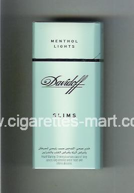 Davidoff (design 1) (Menthol Lights / Slims) ( hard box cigarettes )
