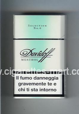 Davidoff (design 1) (Menthol / Selection No 6) ( hard box cigarettes )