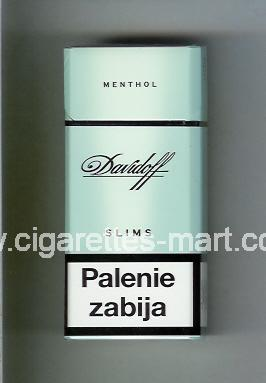Davidoff (design 1) (Menthol / Slims) ( hard box cigarettes )