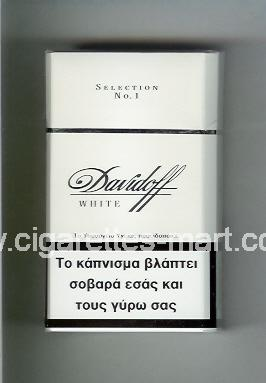 Davidoff (design 1) (White / Selection No 1) ( hard box cigarettes )