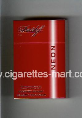 Davidoff (design 4) Neon (Red) ( hard box cigarettes )
