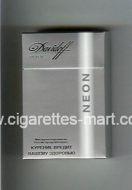Davidoff (design 4) Neon (Silver) ( hard box cigarettes )
