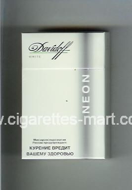 Davidoff (design 4) Neon (White) ( hard box cigarettes )