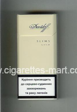 Davidoff (design 5) (Gold / Slims) ( hard box cigarettes )