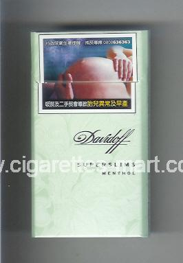 Davidoff (design 5A) (Superslims / Menthol) ( hard box cigarettes )