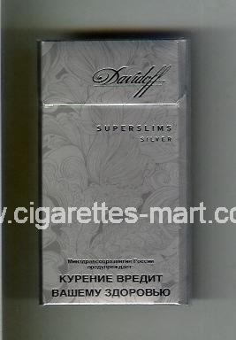 Davidoff (design 5A) (Superslims / Silver) ( hard box cigarettes )