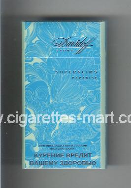 Davidoff (design 5B) (Superslims / Paradise / Aroma) ( hard box cigarettes )