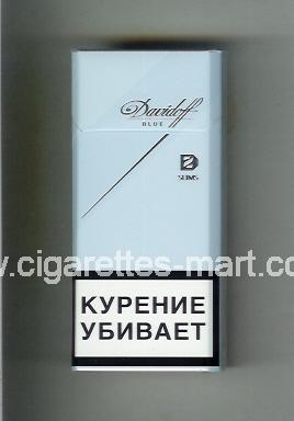 Davidoff (design 6) (Blue / Slims) ( hard box cigarettes )