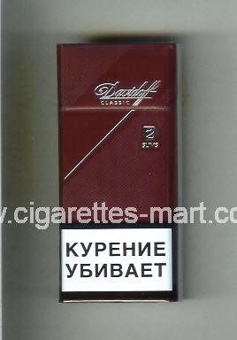 Davidoff (design 6) (Classic / Slims) ( hard box cigarettes )