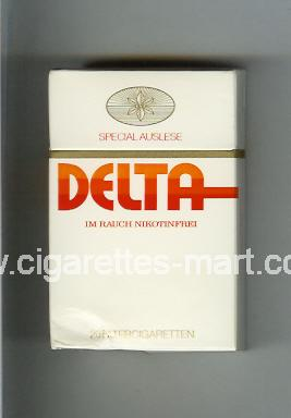 Delta (german version) (design 1) (Special Auslese) ( hard box cigarettes )